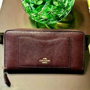 Coach New York crossgrain leather Preowned wallet